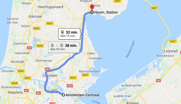 Guided Tour Hoorn - Amsterdam - Hoorn 32 minutes