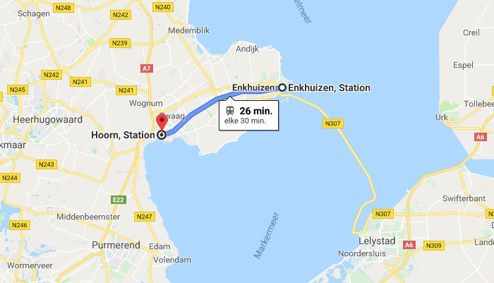 Guided Tour: Hoorn - Enkhuizen 26 minutes by train