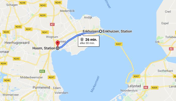Rondleiding Hoorn: Hoorn - Enkhuizen 26 min met de trein