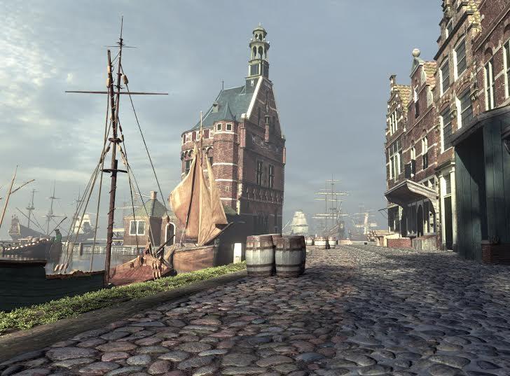 Zicht op de Hoofdtoren 17de eeuw | Local guide Hoorn