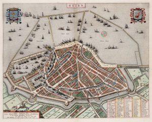 Kaart van Hoorn uit 1649 - Stadswandeling / Rondleiding Hoorn