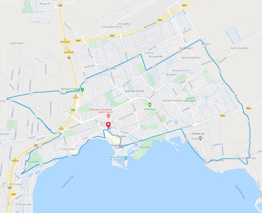 Fietstocht Hoorn 25 KM - Local Guide Hoorn